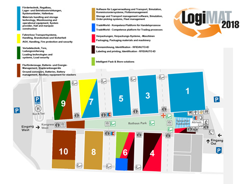 LogiMAT 2018 exhibition sections